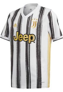 Camisa Infantil Adidas Juventus I 20/21 Branco/Preto - Pp