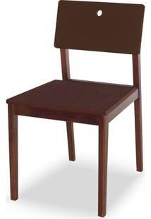 Cadeira Flip Cor Cacau Com Encosto Marrom - 31127 Sun House