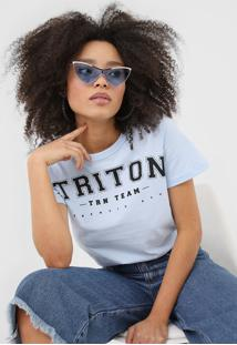 Camiseta Triton Estampada Azul - Kanui