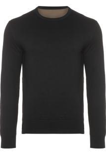 Casaco Masculino Sweater Tricot Double Basic - Preto