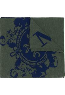 Mr & Mrs Italy Cachecol De Tricô Com Logo - Verde