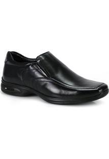 Sapato Conforto Masculino Jota Pe Vision Preto