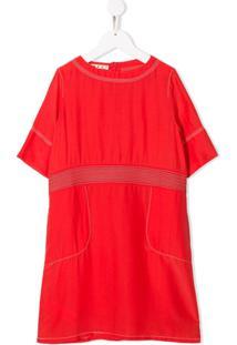 Marni Kids Vestido Decote Arredondado - Vermelho