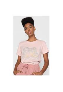 Camiseta Volcom Lock It Up Rosa