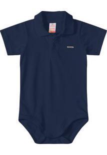 Body Polo Marisol Azul Bebê Menino
