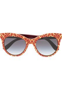a54a7bbc23 Dolce   Gabbana Eyewear Cat-Eye Shaped Sunglasses - Vermelho