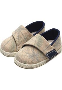 Sapato Pimpolho Menino Têxtil Bege