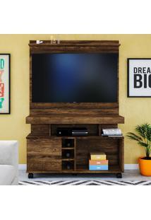 Rack Para Tv Delta Até 42 Polegadas Canela Rústico - Colibri Móveis