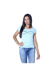 Camiseta Heide Ribeiro Forever Azul Claro