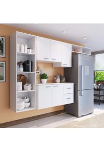 Cozinha Compacta 4 Peças 5 Portas Anabela Siena Móveis Branco