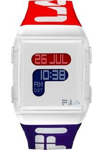 Relógio Digital Esportivo - Vermelho E Azul