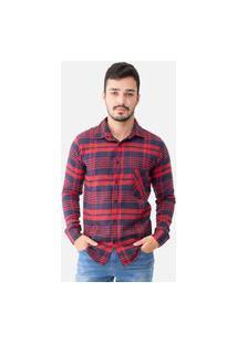 Camisa Masculina Flanela Manga Longa 33519