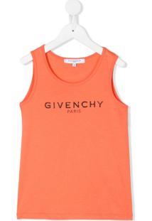 Givenchy Kids Regata Com Estampa De Logo - Rosa