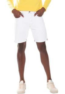 Bermuda Jeans Levis 501 Taper Cut Off Pride Masculina - Masculino-Branco