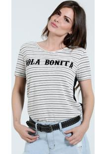 Blusa Feminina Listrada Frontal High Low Marisa