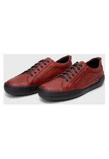 Sapato Em Couro Hayabusa Z 10 - Vermelho Solado Preto