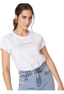 Amaro Feminino T-Shirt Vacation Mood, Branco