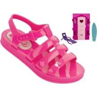 f187e3998 Sandália Infantil Grendene Barbie + Brinde Dream House Feminina -  Feminino-Rosa