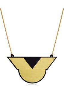 Colar Lediamond Geométrico Dourado - Kanui
