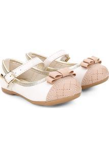 Sapato Infantil Klin Princesa Baby Menina - Feminino-Off White