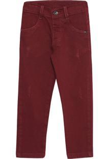 Calça Look Jeans Skinny Vinho