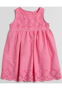 Vestido Infantil Recorte Sem Manga Marisa
