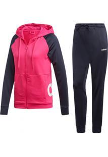 Agasalho Adidas Moletinho Linear Hoodie Feminino