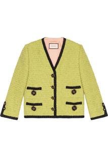 Gucci Jaqueta De Tweed - Verde