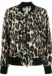 Diane Von Furstenberg Animal Print Bomber Jacket - Neutro