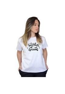 Camiseta Boutique Judith Together Forever Branco