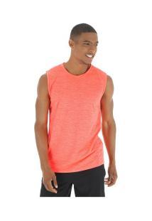 Camiseta Regata Oxer Textura Sublimada - Masculina - Laranja