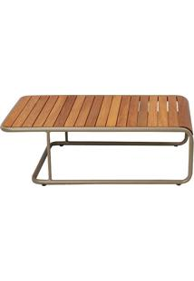 Mesa De Centro Patio Para Área Externa Tampo Deck Cumaru Estrutura Alumínio Eco Friendly Design Scaburi