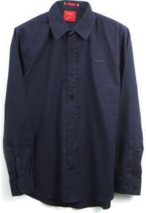 Camisa Colcci Fun Menino Lisa Azul-Marinho