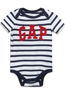Body Bebê Gap Listrado - Masculino