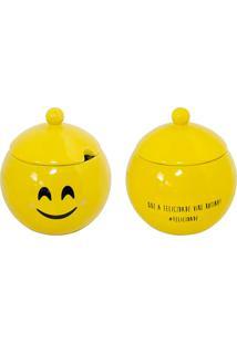 Açucareiro Felicidade - Mondoceram - Amarelo