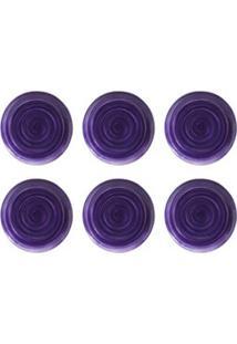 Conjunto De Pratos Para Sobremesa Com 06 Peças Em Cerâmica Coup Espiral - Porto Brasil