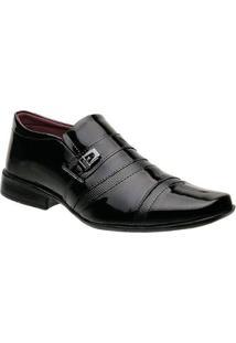 Sapato Torani Carrara Verniz Social Masculino - Masculino-Preto