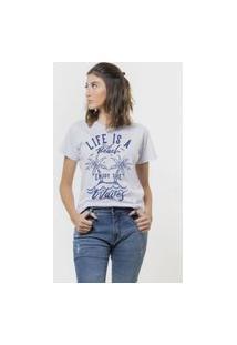 Camiseta Jay Jay Basica Life Is A Beach Branca Dtg