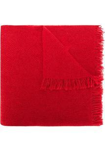 Rick Owens Cachecol Oversized Com Franjas - Vermelho