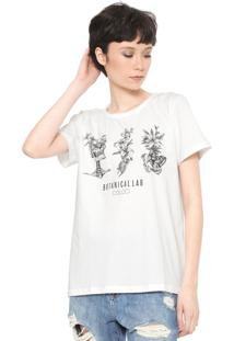Camiseta Colcci Estampada Off-White