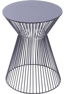 Mesa De Apoio Lupo Com Estrutura E Tampo Metalico Preto - 53487 - Sun House