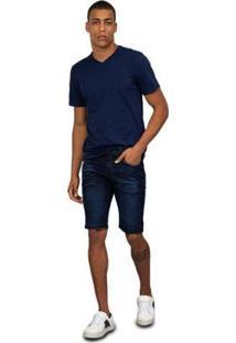Bermuda Jeans Tng Masculina - Masculino-Azul Escuro