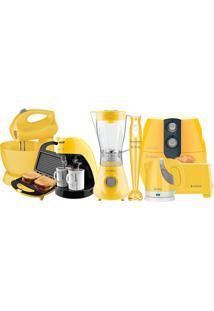 Kit Cozinha Completa Colors Amarelo Cadence 220V