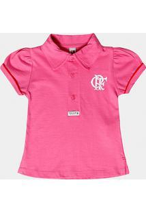 Camisa Polo Rosa Flamengo Infantil - Feminino