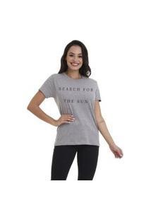 Camiseta Jay Jay Basica Search For The Sun Cinza Mescla Dtg