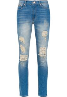 Amapô Calça Jeans Skinny 'Rocker Two' - Azul