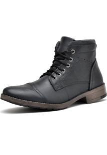 Bota Trivalle Shoes Em Couro 819 Fossil Preto