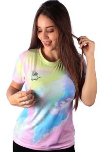 Camiseta Baby Look No Bad Days Tie Dye Md25