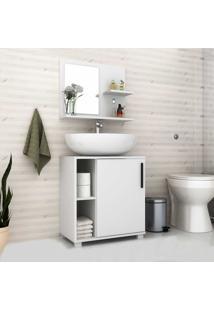 Armário De Banheiro 1 Porta Bbn19 Branco - Brv Móveis