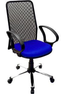 Cadeira De Escritório Secretária Milão Azul